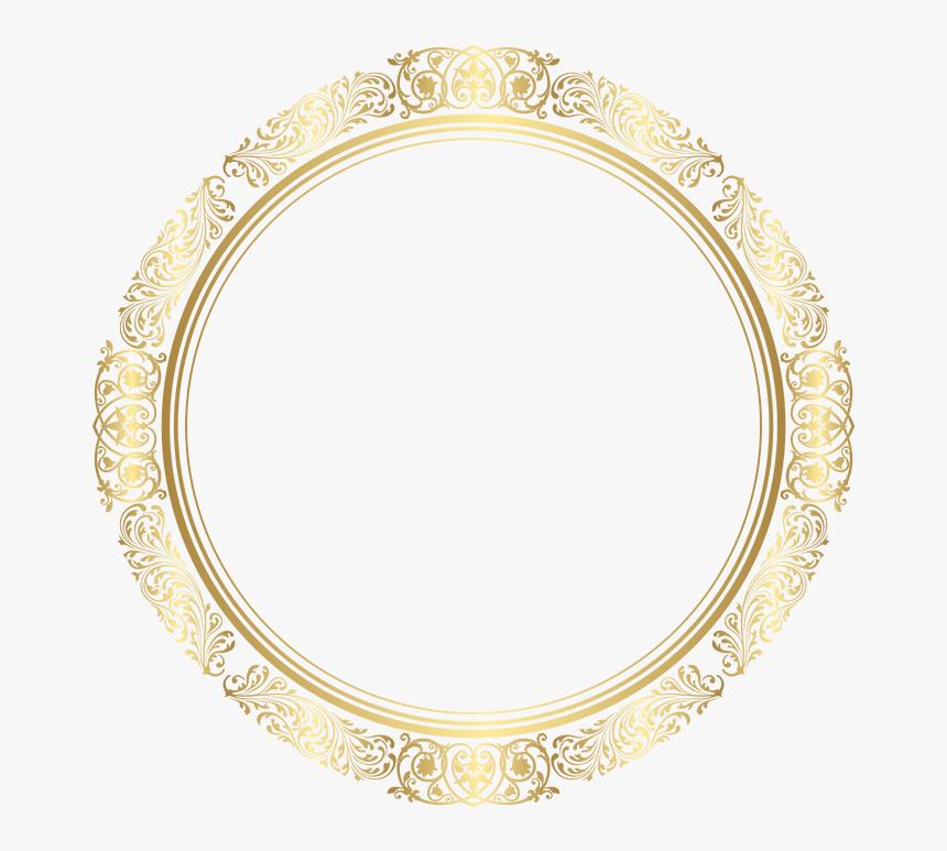 Transparent Round Frame Png - Golden Round Frame Png, Png Download, Free Download