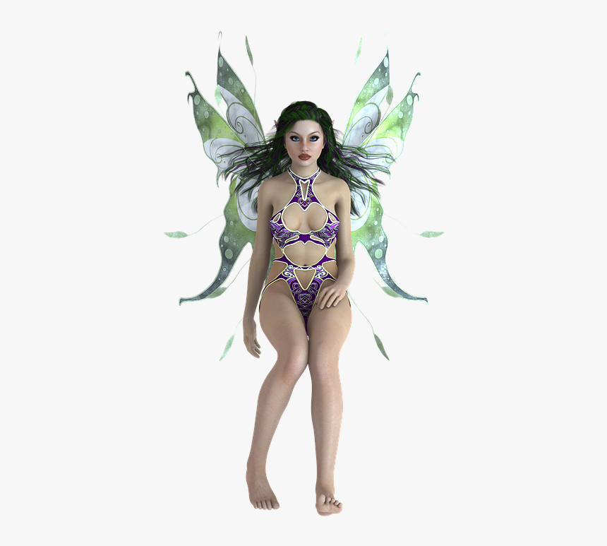 Transparent Background, Fae, Fairy, Wings, Woman, Elf - Transparent Background Christmas Angel Png, Png Download, Free Download
