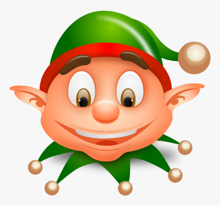 Christmas Elf Clip Art Clipart - Christmas Elf Face Clipart, HD Png Download, Free Download