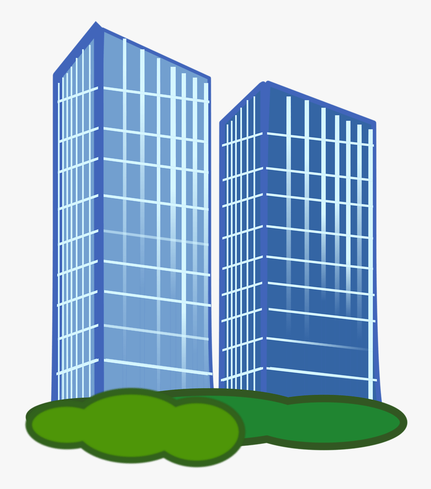 Commercial Property Clip Art At Clker - Building Clipart Transparent Background, HD Png Download, Free Download