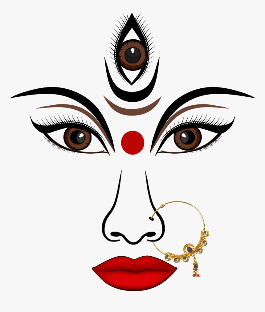 Durga Maa Face Png, Transparent Png, Free Download