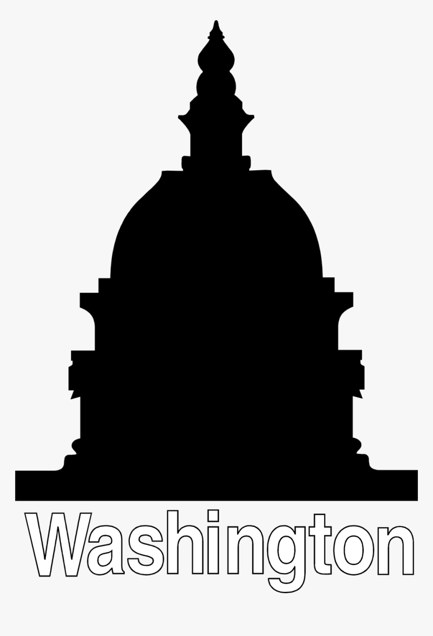 Washington Dc Capitol Building Png - Capitol Building Silhouette, Transparent Png, Free Download