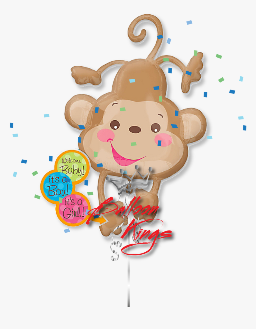 Baby Shower Fisher Price Monkey - Baby Shower Baby Monkey Cartoon, HD Png Download, Free Download