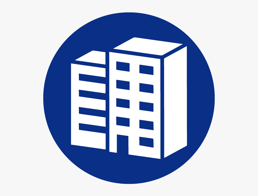 Building Facilities Maintence - Blue Building Icon Png, Transparent Png, Free Download
