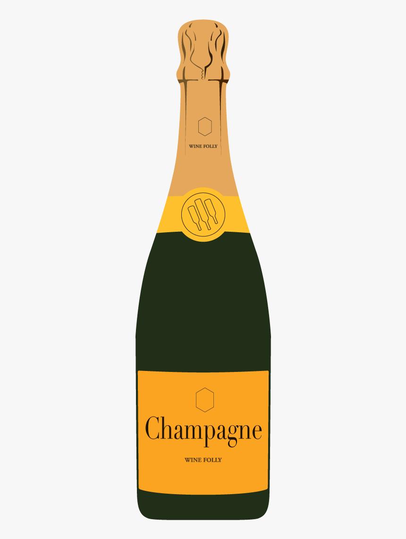 Beverage,wine,glass Bottle,wine Bottle,sparkling Beverage - Bottle Of Champagne Illustration, HD Png Download, Free Download