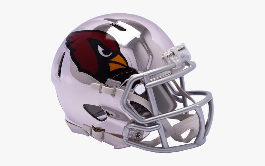 Arizona Cardinals Chrome Riddell Speed Mini Football - 2018 Football Helmets Nfl, HD Png Download, Free Download