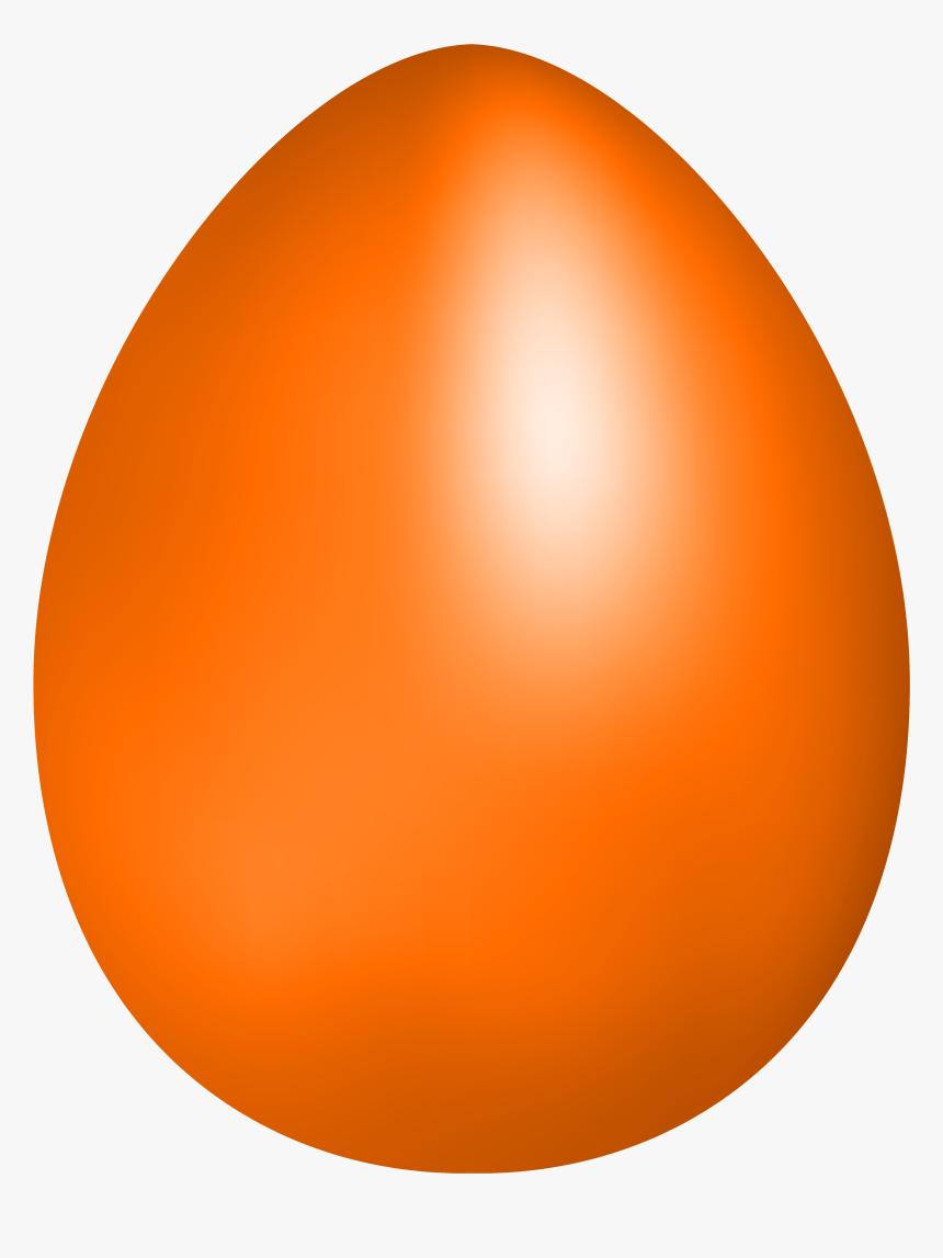Orange Easter Egg Png Clip Art - Orange Easter Egg Clip Art, Transparent Png, Free Download