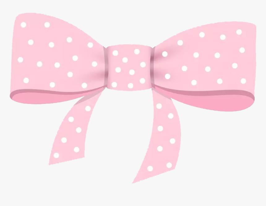 Transparent Pink Bow Png - Polka Dot, Png Download, Free Download
