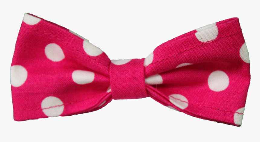 Polka-dot - Pink Bow With White Polka Dots, HD Png Download, Free Download