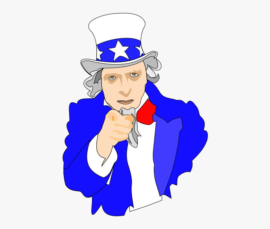 Uncle Sam Clipart Png - Tio Sam Animado Png, Transparent Png, Free Download