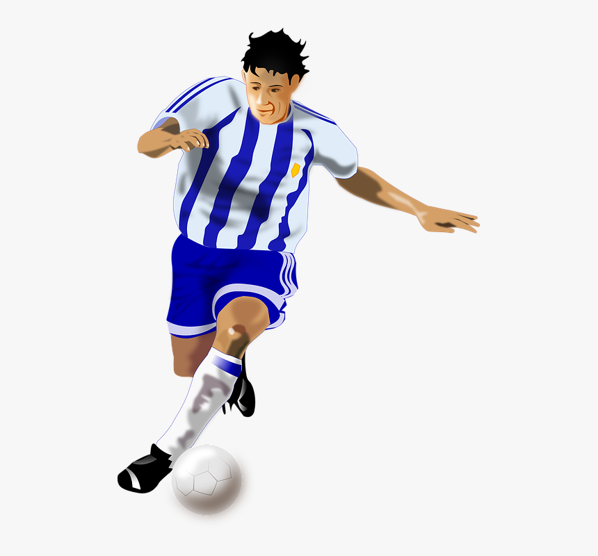 Soccer, Football, Sports, Man, Guy, Sport, Jersey, - Football Player Animation, HD Png Download, Free Download