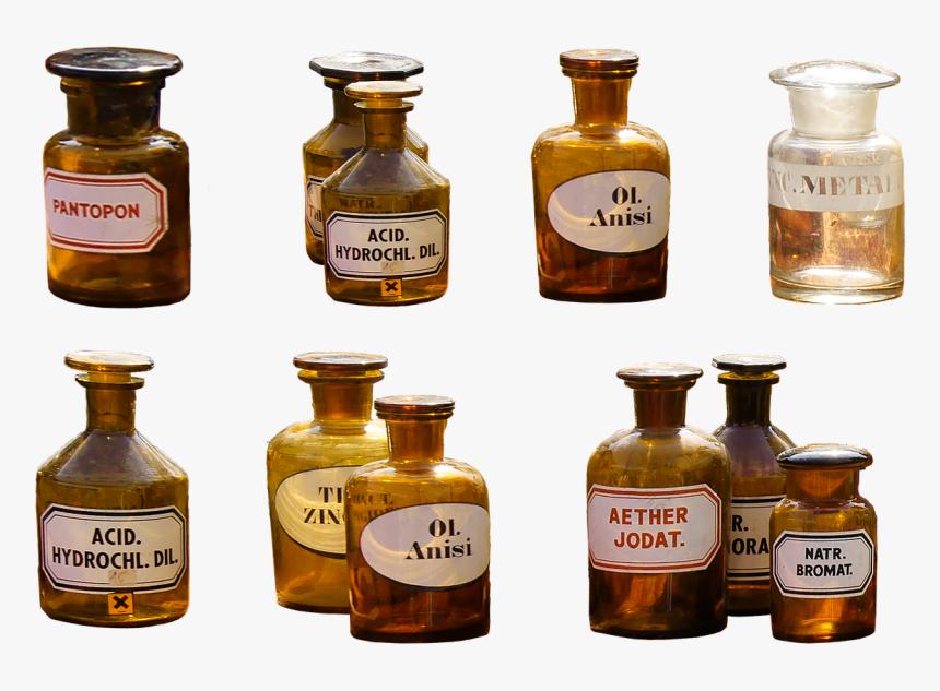 Transparent Ink Bottle Png - Old Medicine Bottles Png, Png Download, Free Download
