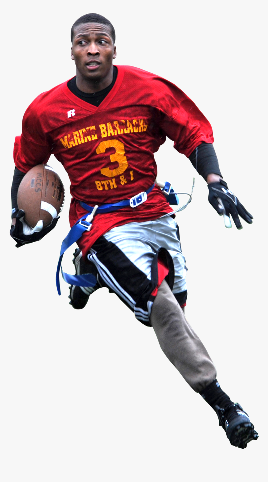 American Football Player Png Transparent Image - Football Player With Football Png, Png Download, Free Download
