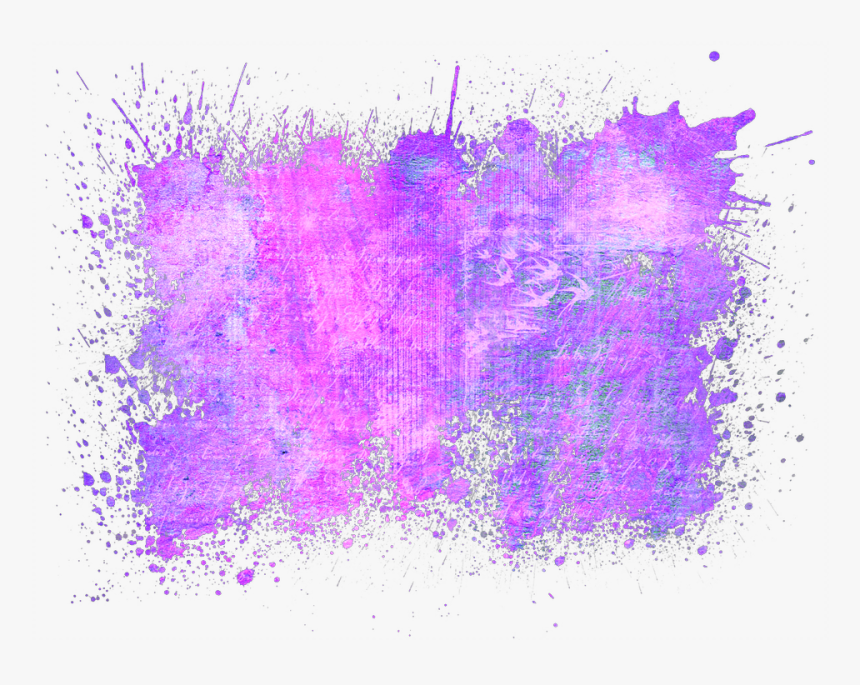 #splatter #paint #effects #splat #purple #neon #color - Colour Splash Background Hd, HD Png Download, Free Download