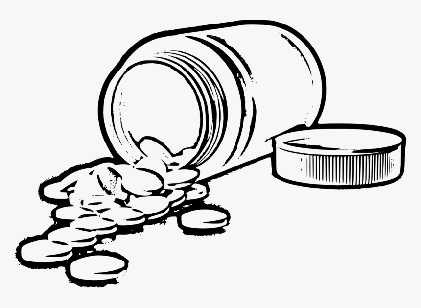 Transparent Pill Bottle Png - Pill Bottle Drawing Png, Png Download, Free Download