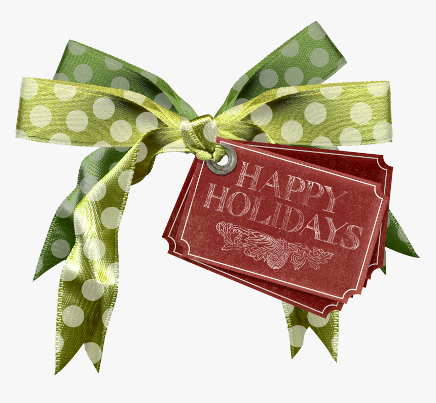 Download Holiday Ribbontag - Christmas Stock Deviantart, HD Png Download, Free Download