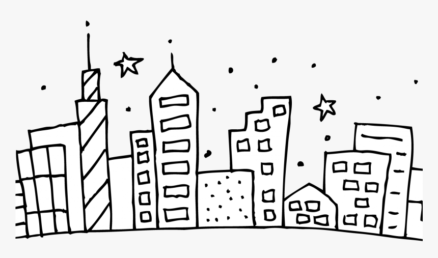Chicago Skyline Coloring Page Cubs Pages At Getcolorings - City Skyline Coloring Page, HD Png Download, Free Download