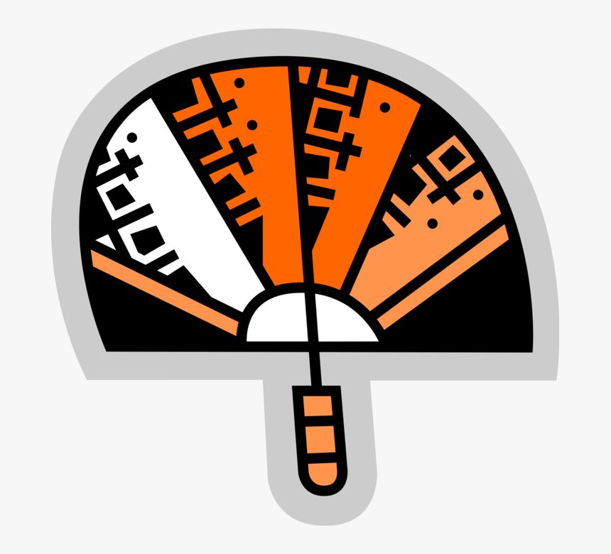 Vector Illustration Of Decorative Folding Hand Fan, HD Png Download, Free Download