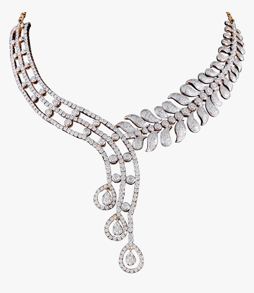 Download Diamond Necklace Transparent Background For - Gold Diamond Necklace Png, Png Download, Free Download