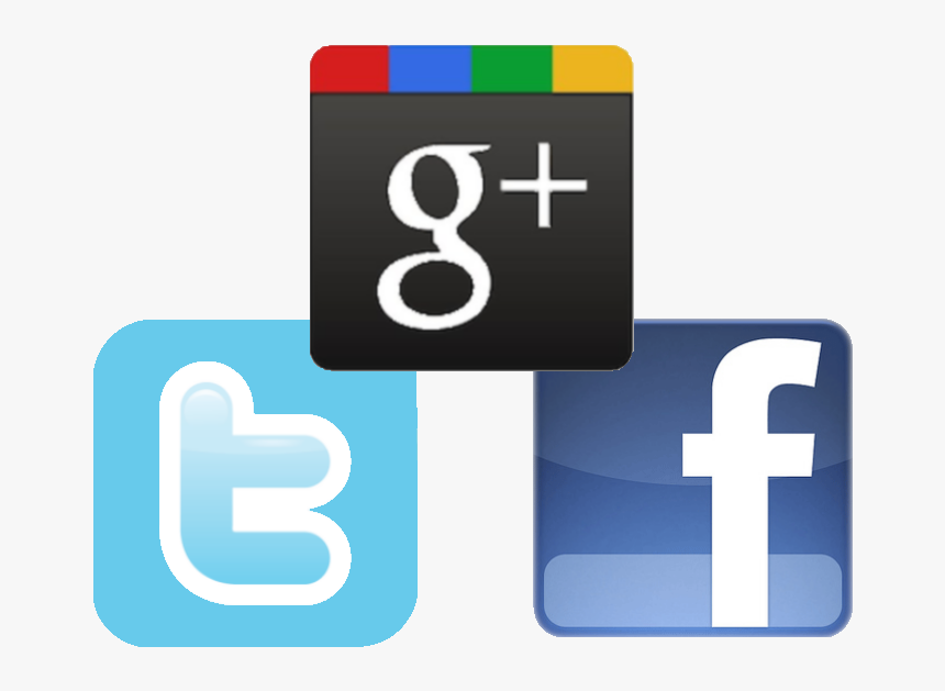 Facebook Twitter Google Icons - Facebook Twitter Google Plus, HD Png Download, Free Download