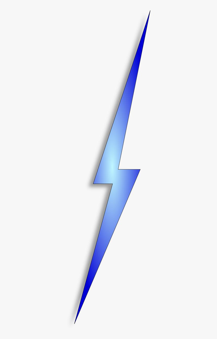Blue Lightning Bolt Clipart, HD Png Download, Free Download