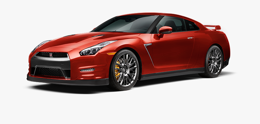 Sports Car Transparent - Nissan Gtr Red Png, Png Download, Free Download
