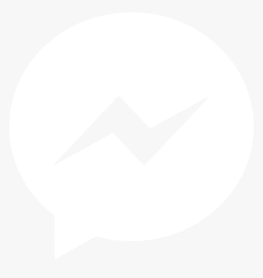 With Fb Messenger - Facebook Messenger White Logo, HD Png Download, Free Download