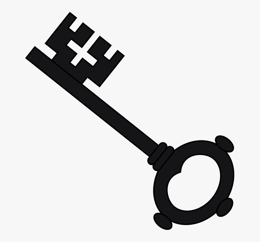Key, Black, Silhouette, Iron, Antique, Metal - Harry Potter Key Clipart, HD Png Download, Free Download