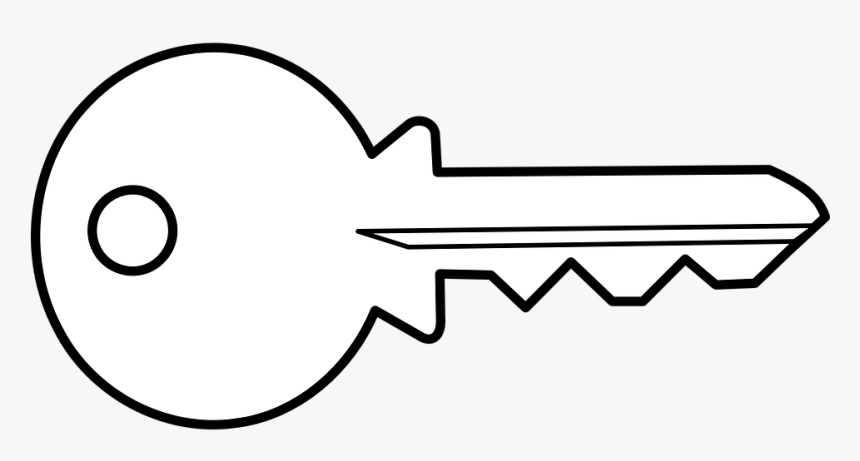 Key, Access, Open, Unlock, Key Bit, Security - White Key Vector Png, Transparent Png, Free Download