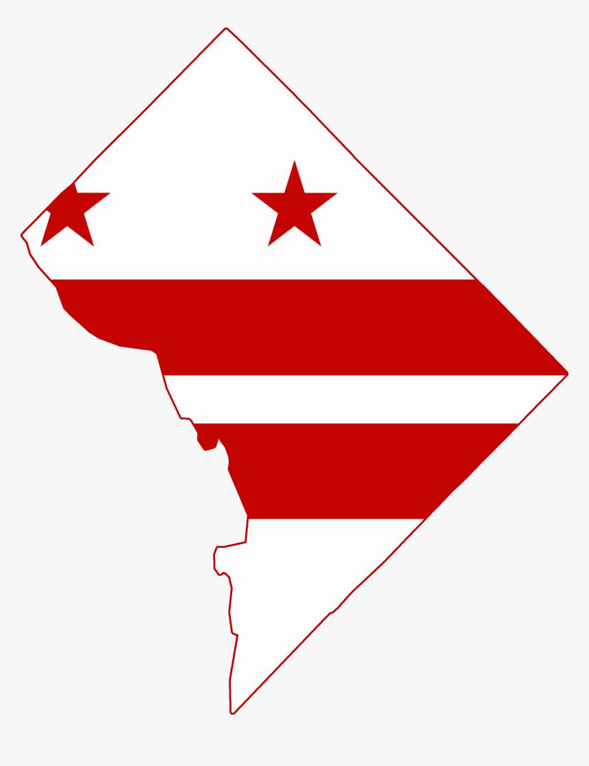 Washington Dc Flag Map, HD Png Download, Free Download