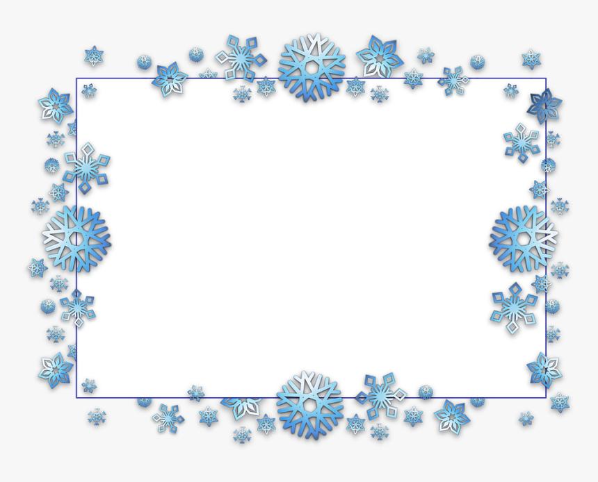 Image Result For Snowflake Border Transparent - Transparent Background Snowflake Border, HD Png Download, Free Download