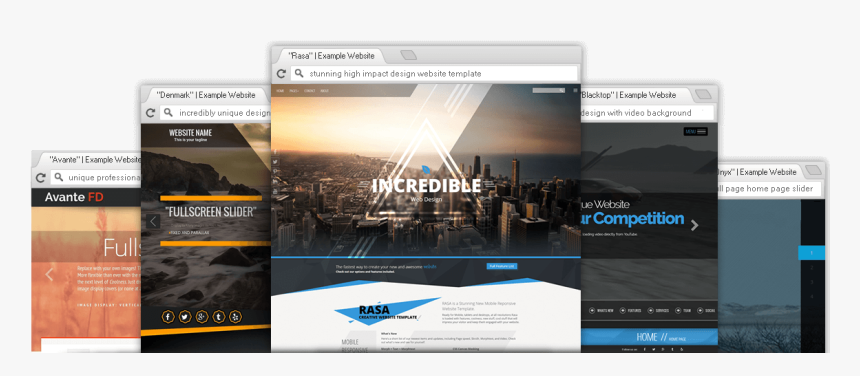 Premium Professional Website Templates Web Page Design Using Templates Hd Png Download Kindpng