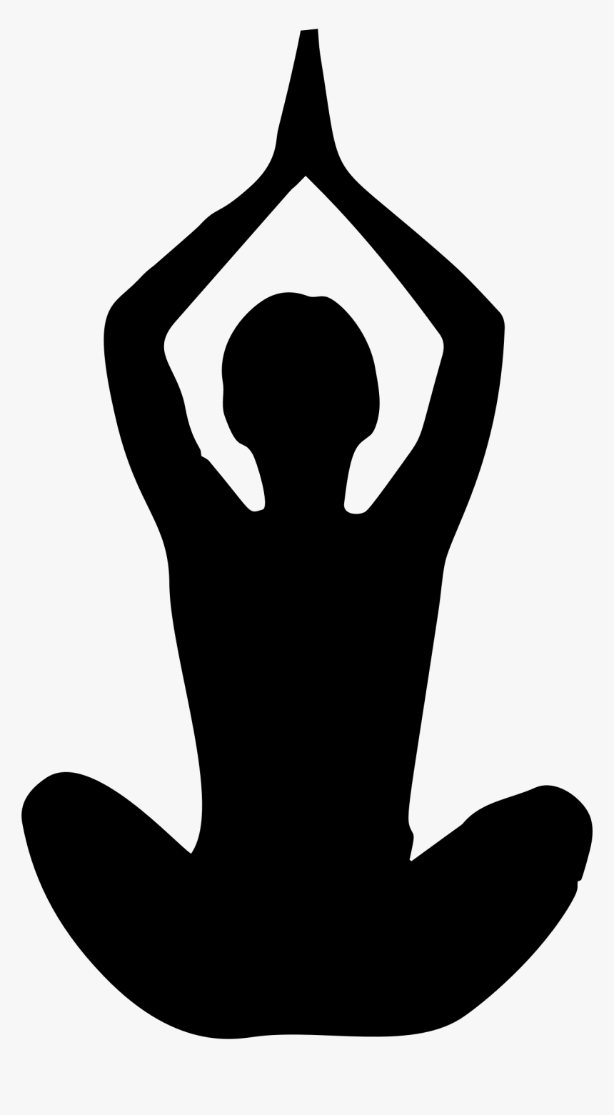 Yoga Transparent Png White Silhouette Yoga Pose Png Png Download Kindpng