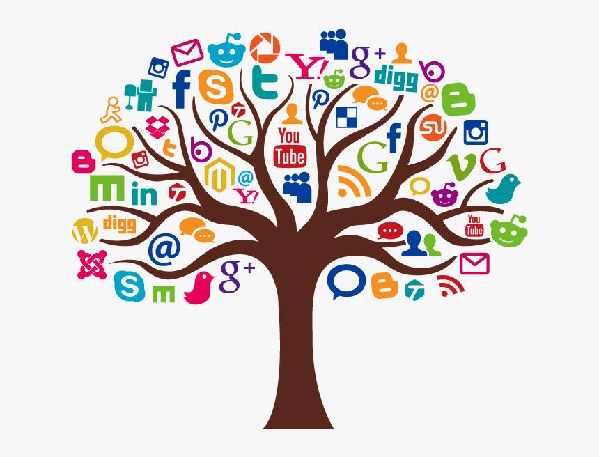 Social Media Marketing Icon - Social Media Marketing Tree, HD Png Download, Free Download