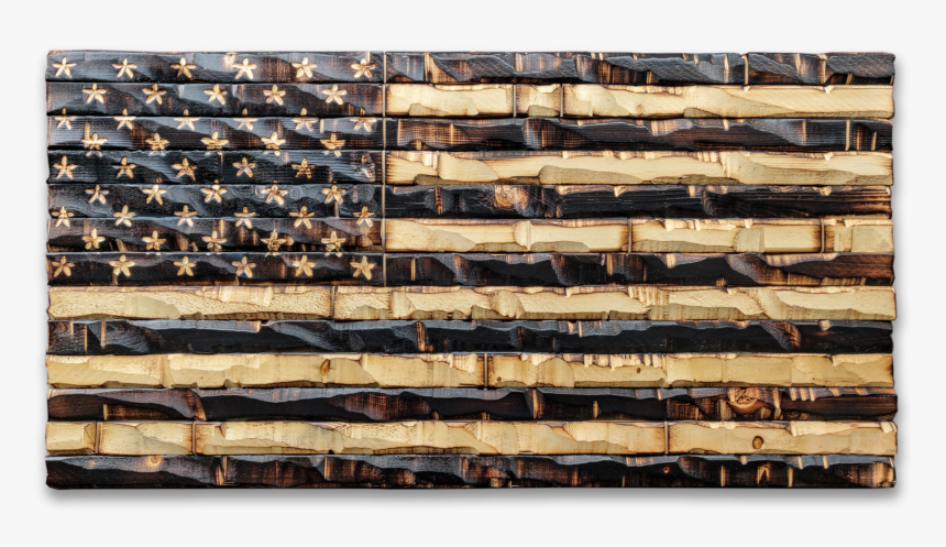 "Rustic Wood Burned American Flag 38x20""  Class=""lazyload - Plank, HD Png Download, Free Download"