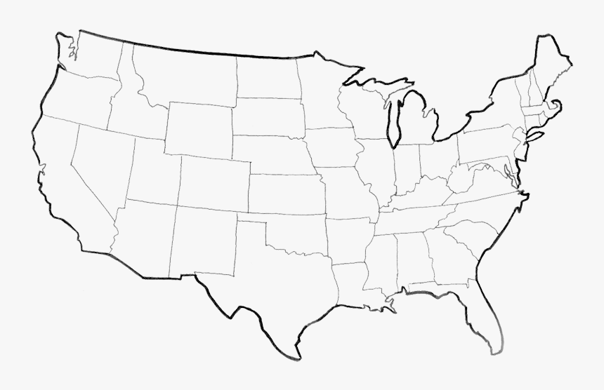 united states map outline png Usa Map Png Picture Outline Of United States Transparent Png