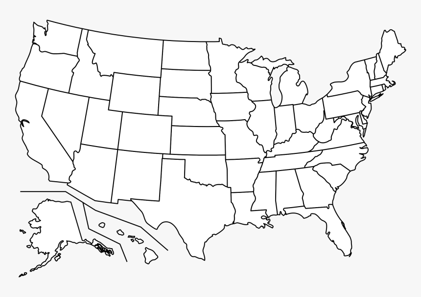 Outline Map Of Usa Hd Png Download Kindpng