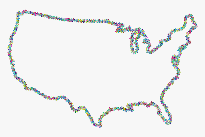 Outline Of The United States U - Outline Of The United States, HD Png Download, Free Download