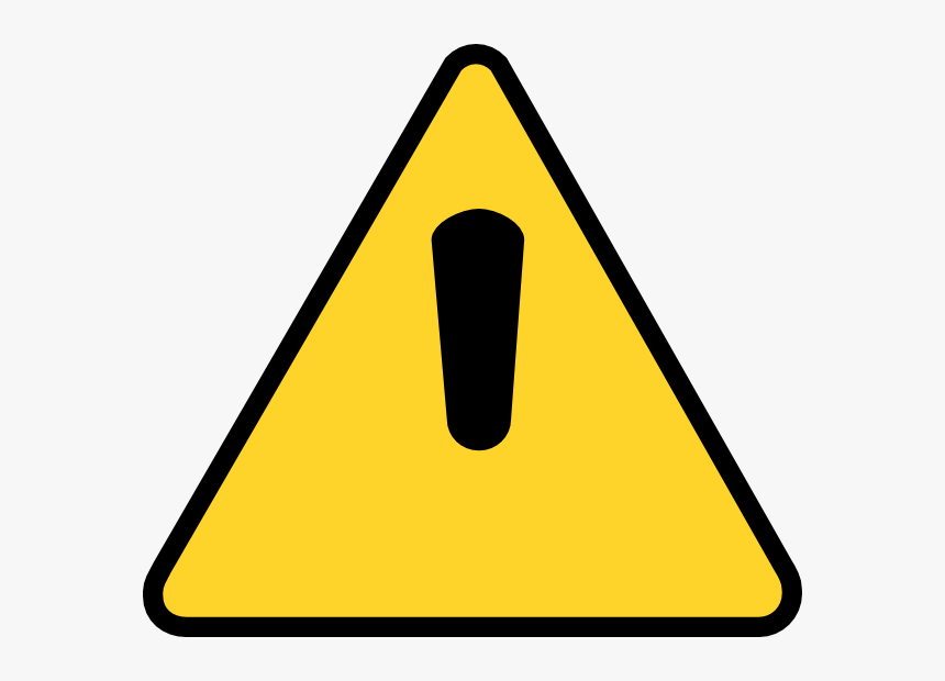 Caution Sign With No Background, HD Png Download, Free Download