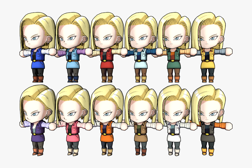 Download Zip Archive - Dragon Ball Fighterz Android 18 Colors, HD Png Download, Free Download