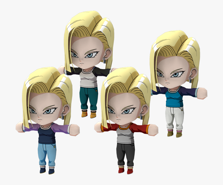 Download Zip Archive - Fighter Z Android 18 Casual, HD Png Download, Free Download
