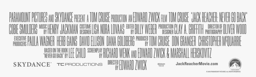 Movie Poster Credits Text - Transparent Movie Poster Credits Png, Png Download, Free Download