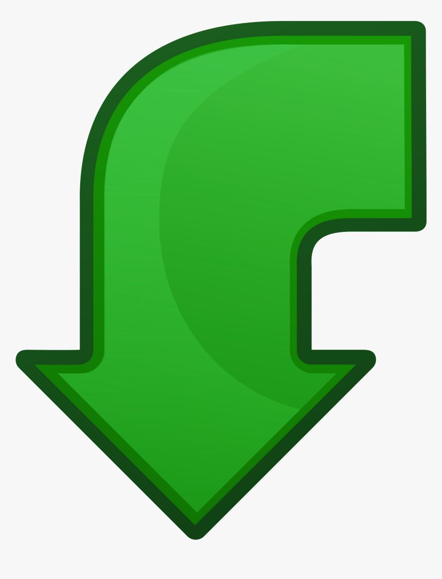 Arrow Go Back Clip Arts - Green Arrow Pointing Down Png, Transparent Png, Free Download