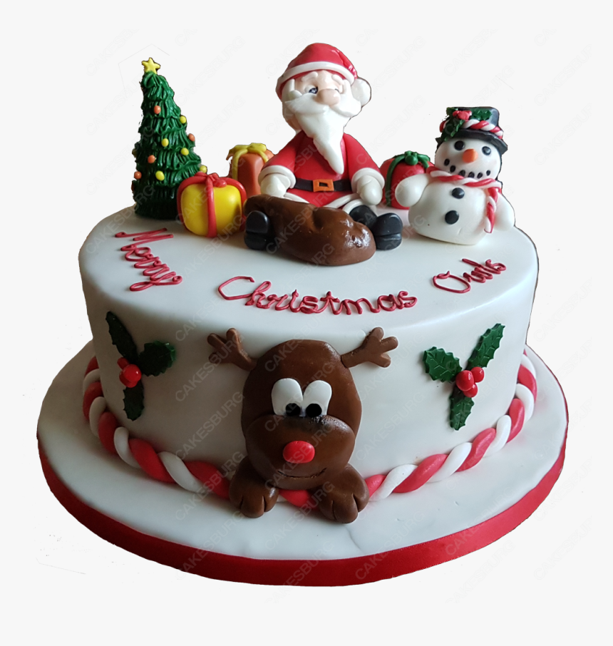 Christmas Cake Png, Transparent Png, Free Download