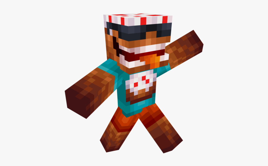 Minecraft Skin Cool Cake, HD Png Download, Free Download