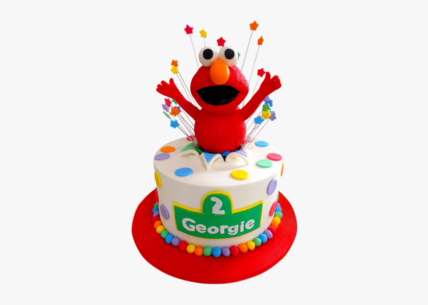 3d Elmo Cake Birthday Cake Hd Png Download Kindpng