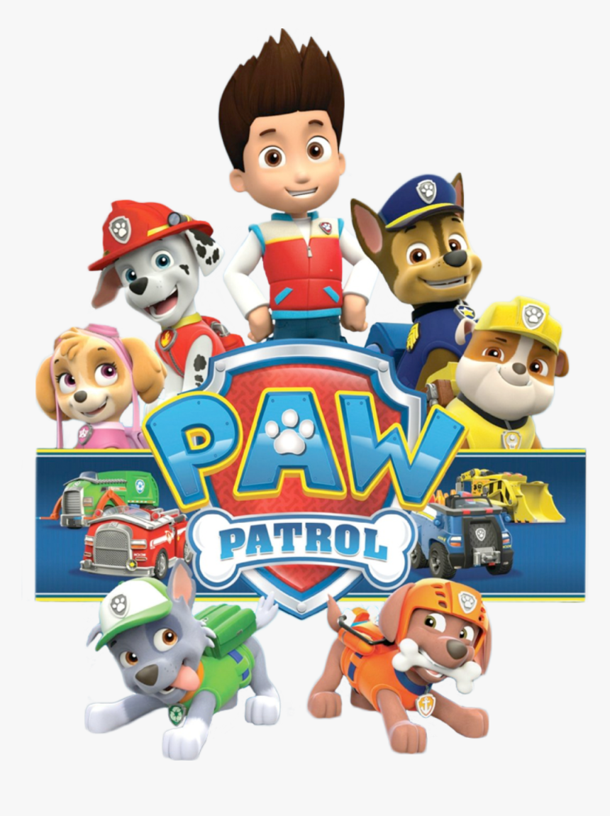 Patrol Dog Paw Free Hd Image Clipart - Paw Patrol Characters Png, Transparent Png, Free Download