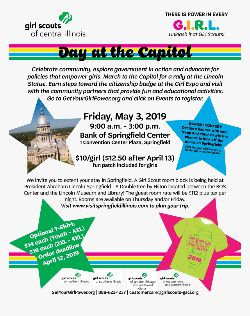 Girl Scout Day At The Capitol 2019, HD Png Download, Free Download