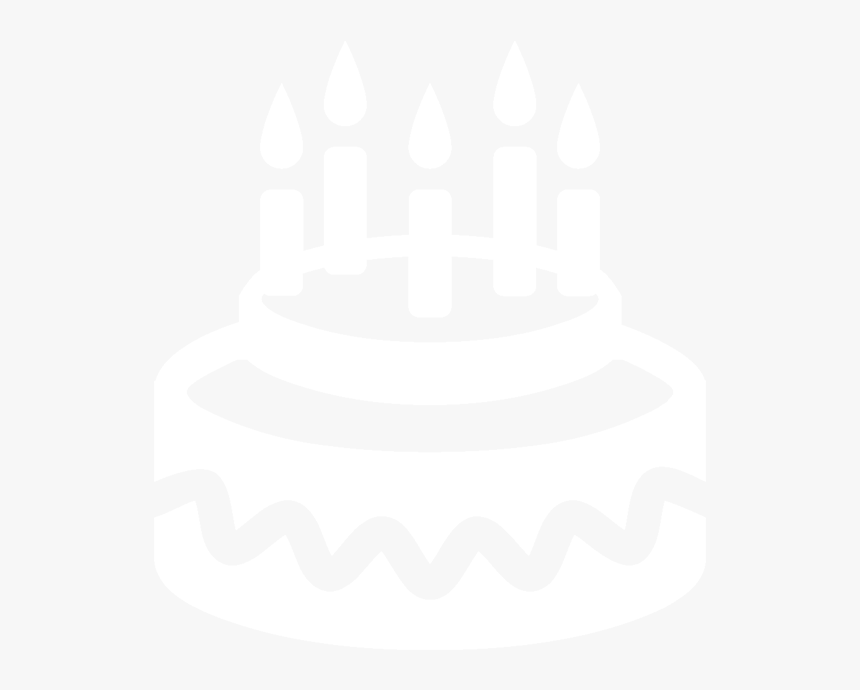 Transparent Birthday Cake Icon Png - Birthday Icon White Png, Png Download, Free Download