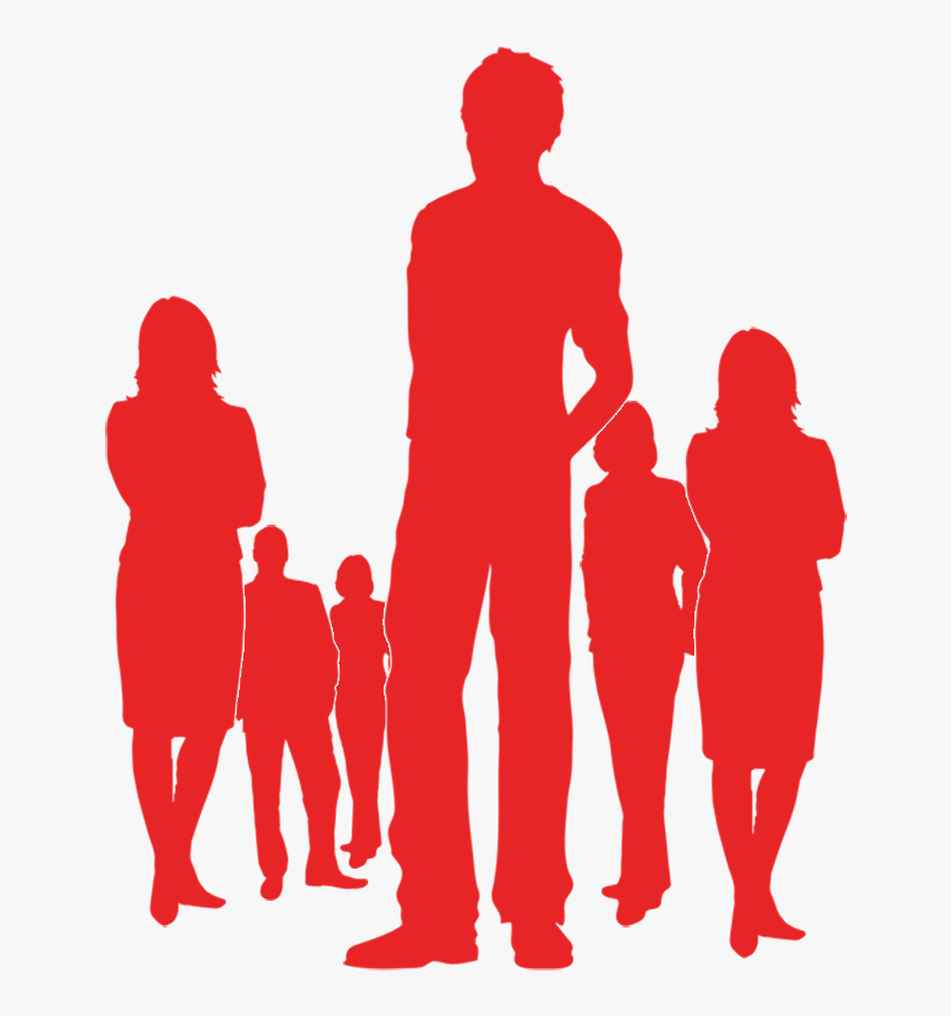 Silueta Hombre Vector , Png Download - People Silhouette Png Red, Transparent Png, Free Download